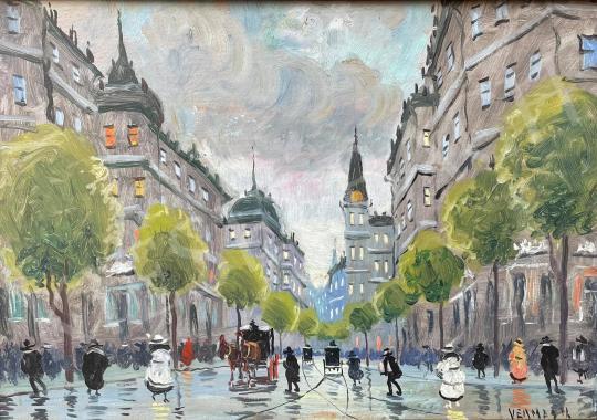 Eladó Ismeretlen festő - Belvárosi forgatag festménye