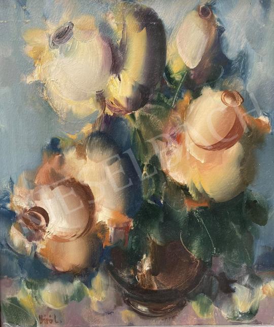 Eladó Bíró Lajos - Sárga rózsák festménye