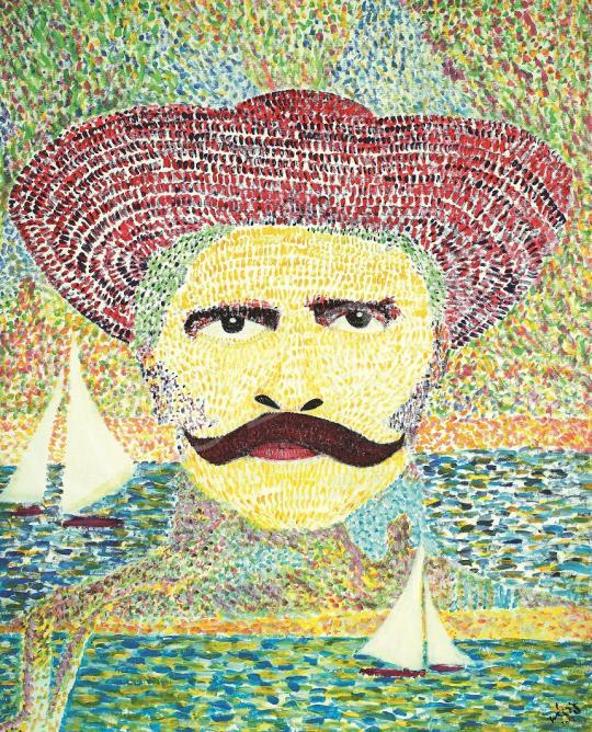 drMáriás - Rózsa Sándor Georges Seurat műtermében festménye