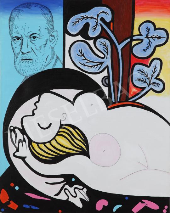 Eladó  drMáriás - Freud pszichoanalitikus vizsgálatot végez Picasso modelljén festménye