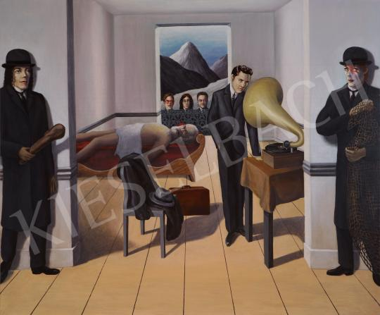 For sale  drMáriás - Capitalism kills communism in Magritte's studio 's painting