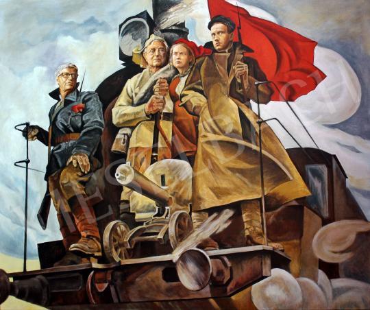 Eladó  drMáriás - A diplomás kommunisták festménye