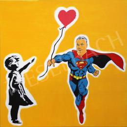drMáriás - Orbán Superman Viktor visszahozza az angol kislánynak a szívlufiját Banksy műtermében