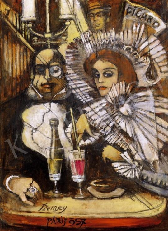 Remsey Jenő György - Kávéházi jelenet Párizsban | 6. Aukció aukció / 297 tétel