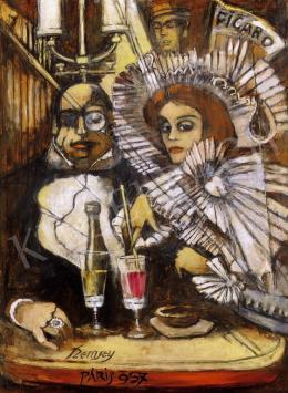 Remsey Jenő György - Kávéházi jelenet Párizsban