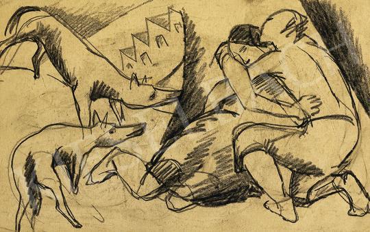 Eladó  Kádár Béla - Szerelem, 1920-as évek első fele festménye