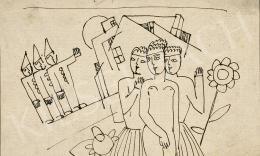 Kádár Béla - Nagyvárosi találkozás, 1920-as évek második fele