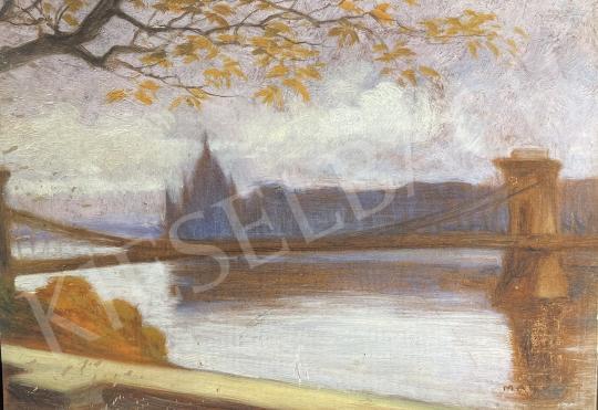 For sale  Markó, Ernő - Chain Bridge, Parliament, Danube, Budapest 's painting