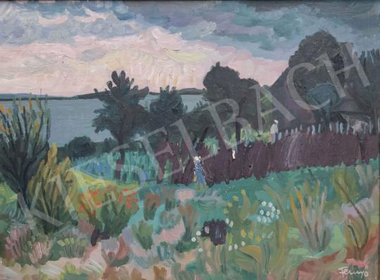 Eladó  Fenyő Andor - Kilátás a Balatonra (Keszthely felől) festménye