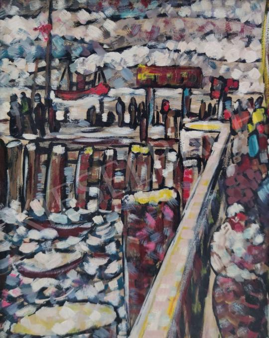 Eladó Farkasházy Miklós - Kikötő festménye