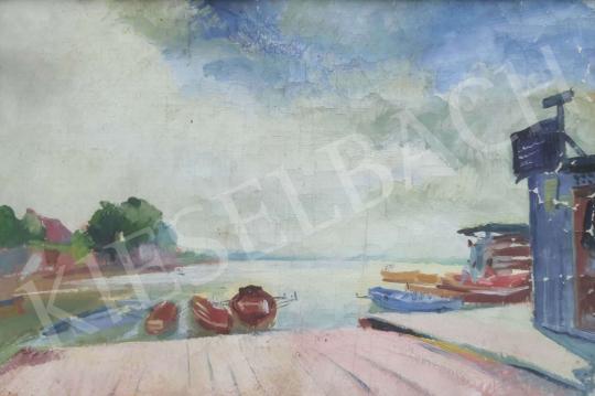 Eladó  Istókovits Kálmán - Kikötő festménye