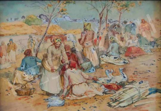 Eladó Deák-Ébner Lajos - Szolnoki piac festménye