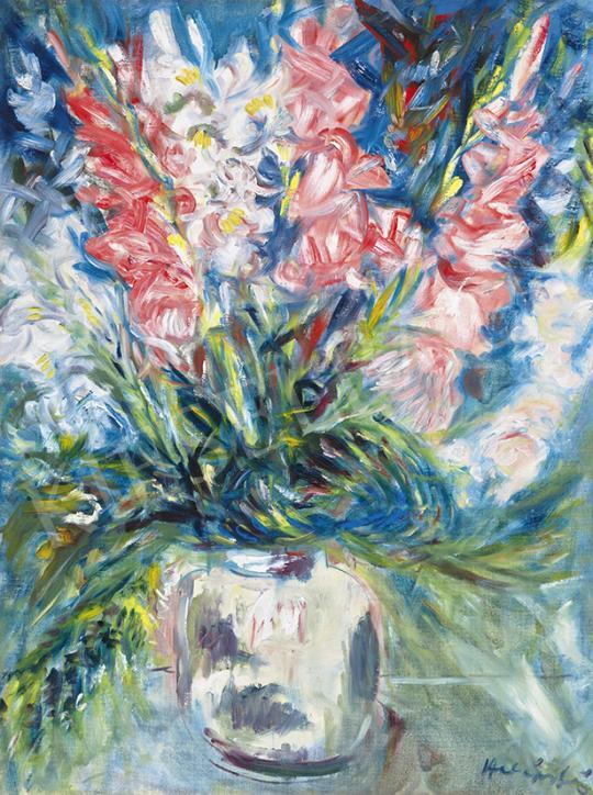 Eladó Halápy János - Csendélet kardvirágokkal festménye