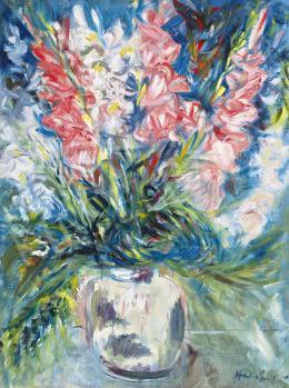 Halápy, János - Flower Still Life with Gladioluses