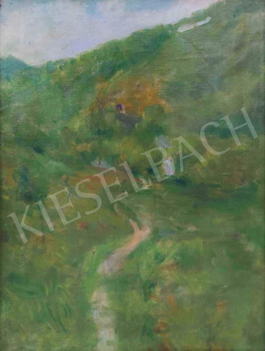 Eladó Hollósy Simon - Nyári domboldal festménye