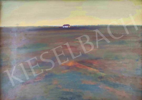 Eladó  Kurucz D. István - Tanya a Hortobágyon festménye