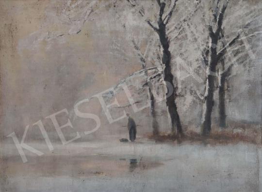 Eladó Kézdi-Kovács László - Téli erdőben festménye