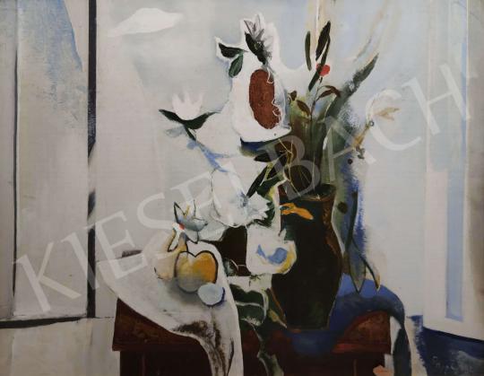 Eladó  Papp Zoltán - Fehér csendélet festménye