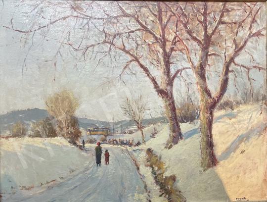 For sale Guzsik, Ödön - Hűvösvölgy, Tram 56 (Budapest) 's painting