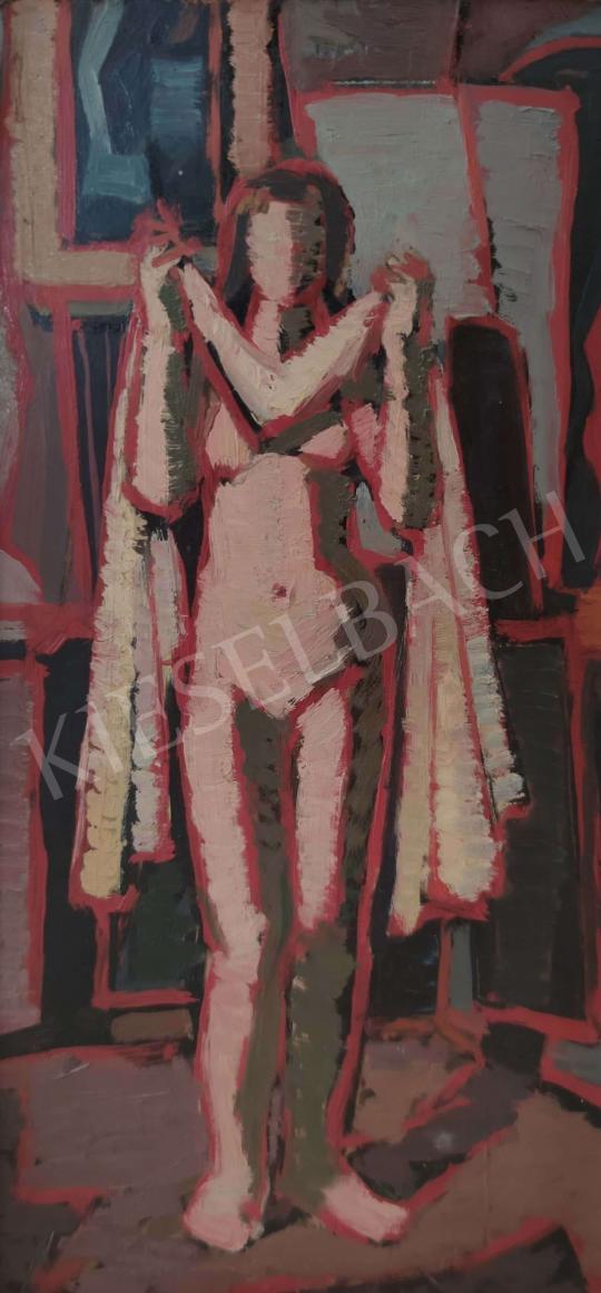 Eladó Ismeretlen festő - Női akt műteremben festménye