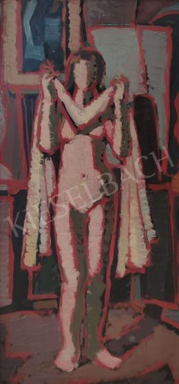 Ismeretlen festő - Női akt műteremben