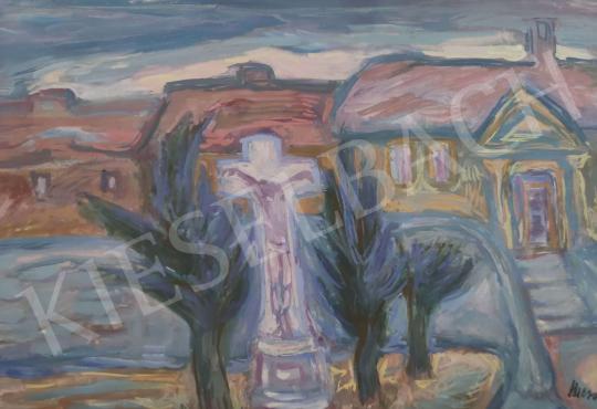Eladó  Mersits Piroska - Kőkereszt festménye