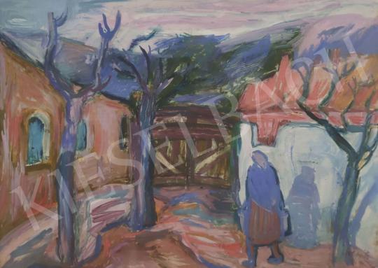 Eladó  Mersits Piroska - Falu festménye