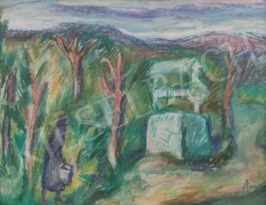 Eladó  Mersits Piroska - Kút festménye