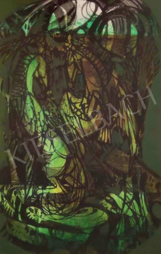 Eladó  Xantus Gyula - Zöld kompozíció festménye