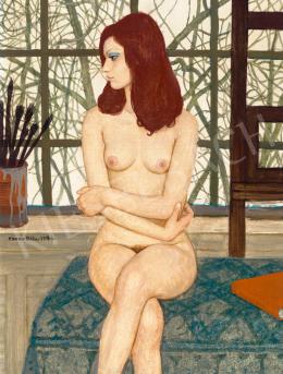 Czene, Béla jr. - Nude with a Dali Book in Studio, 1976