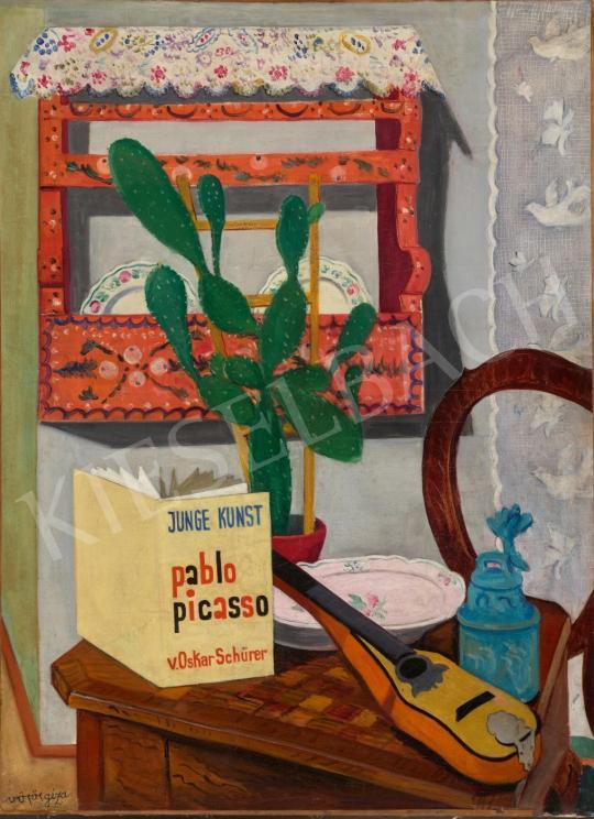 Vörös Géza - Műtermi csendélet Picasso könyvvel, 1928 körül | 65. Aukció aukció / 8 tétel