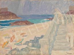 Jakuba, János - Mediterranean Seashore (Figure on Stairs), 1960's