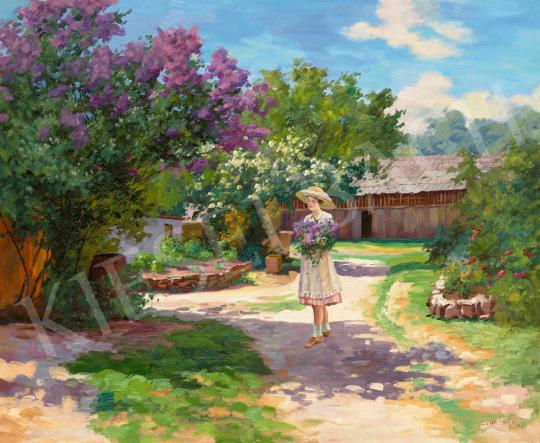 Szontágh Tibor - Tavaszi kertben (Frissen szedett orgona) | 65. Aukció aukció / 11 tétel