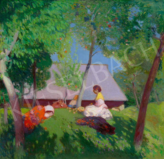 Herrer Cézár - Nyári délután Nagybányán, 1907 | 65. Aukció aukció / 13 tétel