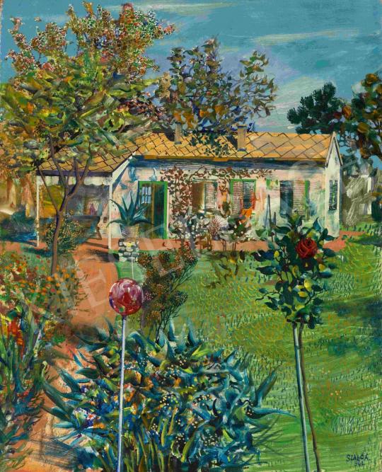 Szabó Ákos - Napsütéses kert (Víkendház), 1961 | 65. Aukció aukció / 15 tétel