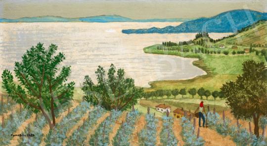 Czene Béla - Kilátás Szigligetről, 1987 | 65. Aukció aukció / 20 tétel