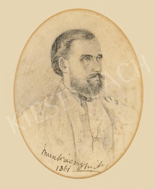 Munkácsy Mihály - Férfi porté kigombolt mellényben, 1861 | 65. Aukció aukció / 29 tétel
