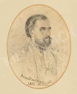Munkácsy, Mihály - Male Portrait in Open Vest, 1861