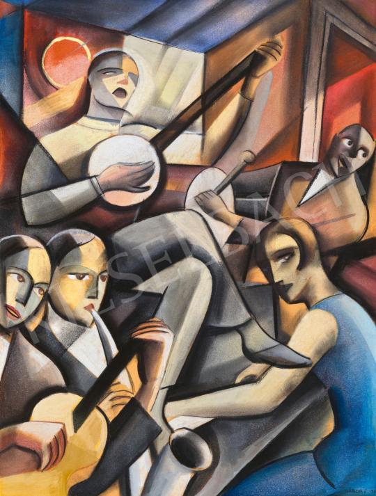Gábor Jenő - Jazz Band a párizsi Jockey klubban, 1930   65. Aukció aukció / 35 tétel