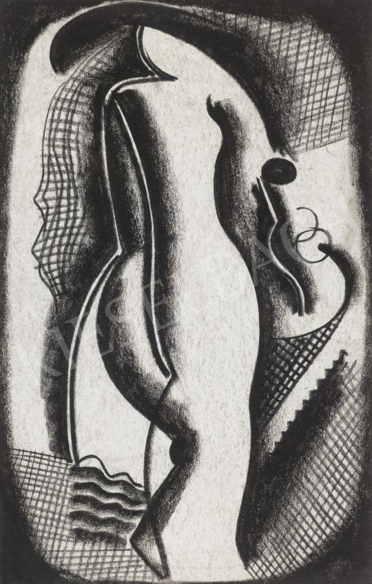 Kádár Béla - Art deco női hátakt, 1920-as évek vége | 65. Aukció aukció / 39 tétel
