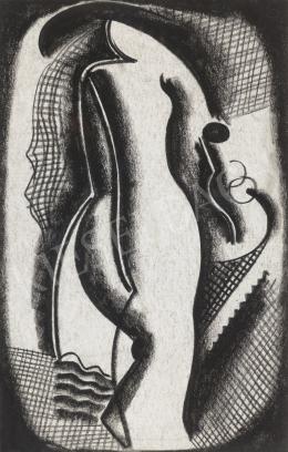 Kádár, Béla - Art Deco Nude Back, end of the 1920's