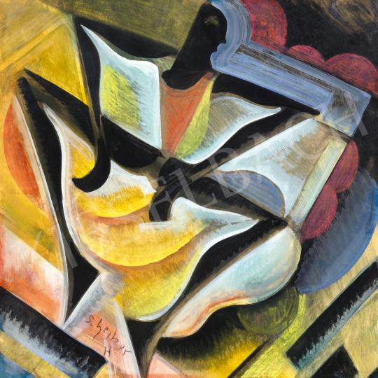 Scheiber Hugó - Táncosnő rivaldafényben (Swing), 1930-as évek   65. Aukció aukció / 40 tétel