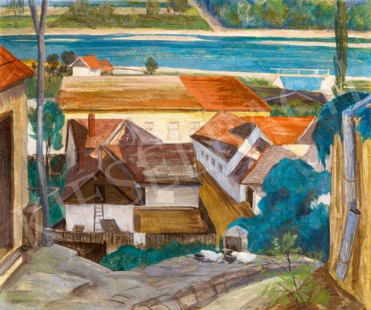 Bánáti Sverák József - Kilátás a Dunára (Szentendre), 1935 | 65. Aukció aukció / 41 tétel