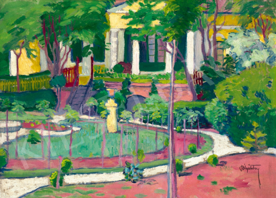 Pólya Tibor - Parkrészlet, 1910   65. Aukció aukció / 49 tétel