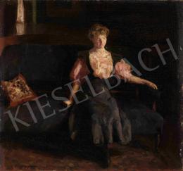 Ferenczy Valér - Szobában (A kék kanapé), 1910-es évek