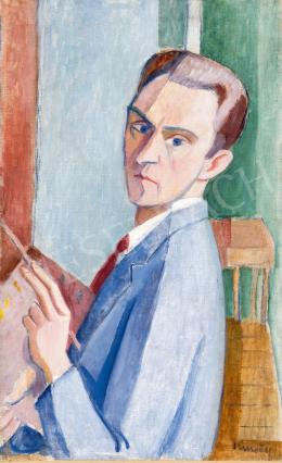 Kmetty János - Önarckép festés közben, 1920-as évek