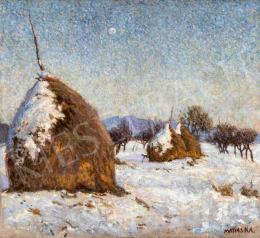 Maticska, Jenő - Sunny Winter Day in Nagybanya (Klatromret in Winter), 1903