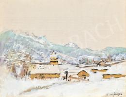Mednyánszky László - Falu a hegyekben (Tél)