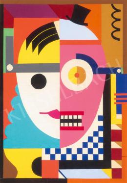 Gábor, Jenő - Collage V. (Clown)