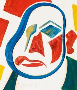 Scheiber, Hugó - Self-Portrait with 4 Colours, c.1928